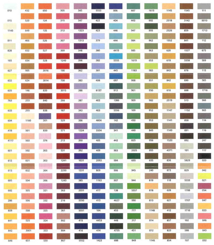 Embroidex Embroidery Thread Color Chart   2017 - 2018 Best Car Reviews